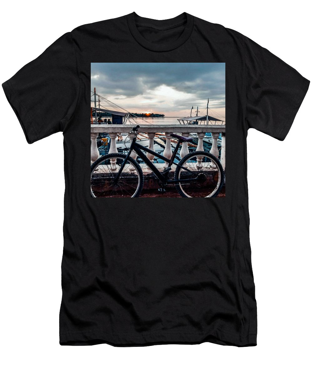 Bike T-Shirt featuring the photograph Traveller's point by Dynz Abejero