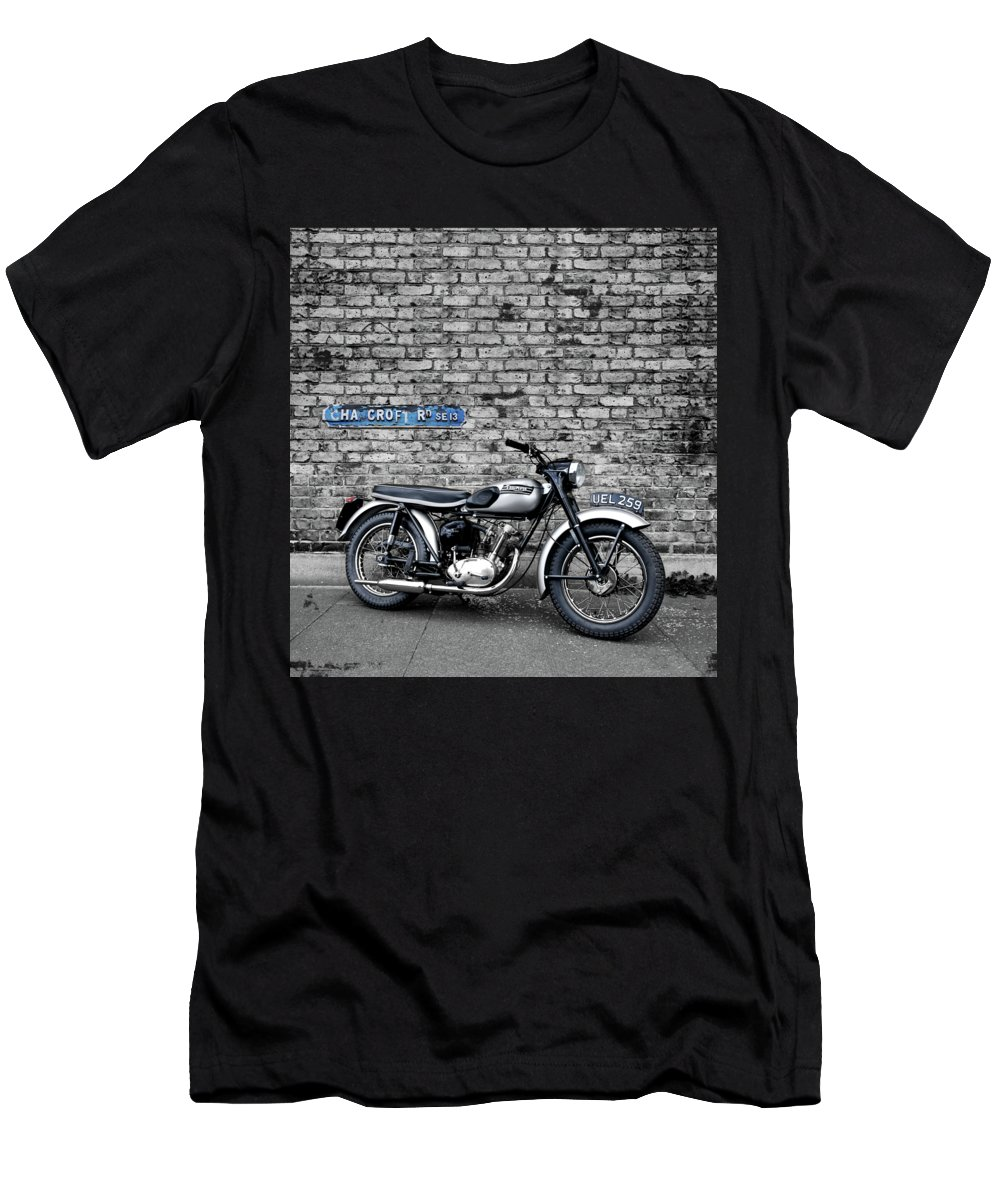 Triumph Men's T-Shirt (Athletic Fit) featuring the photograph Triumph Tiger Cub by Mark Rogan