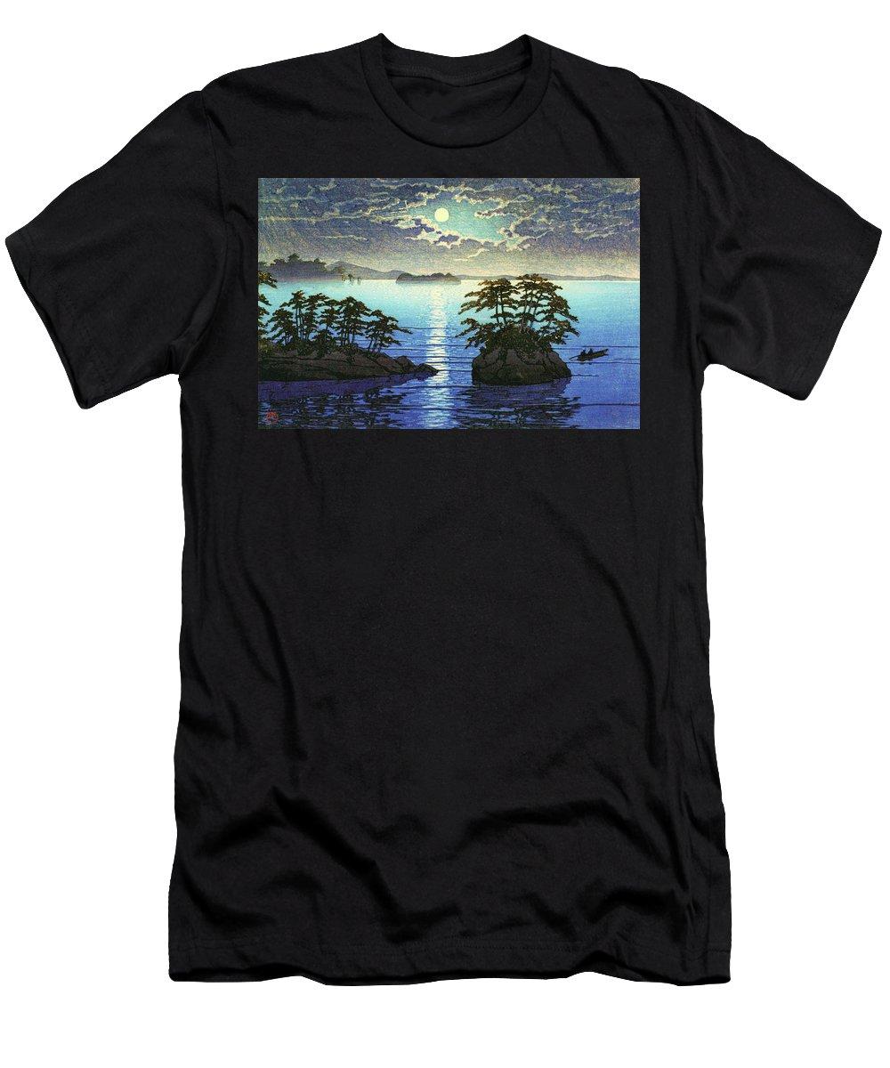 Kawase Hasui T-Shirt featuring the painting Twins island, Matsushima - Digital Remastered Edition by Kawase Hasui