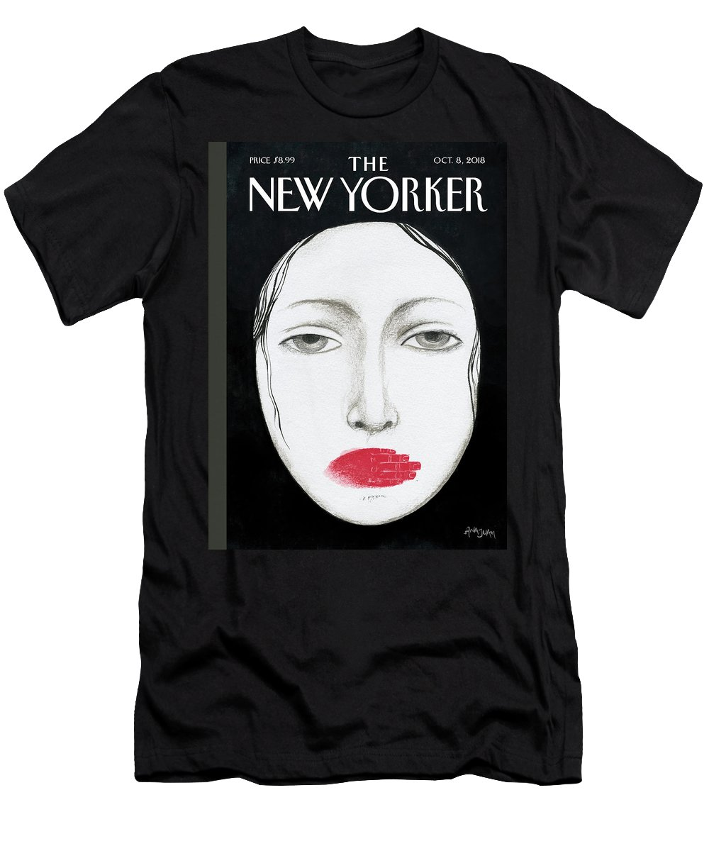 Unheard Men's T-Shirt (Athletic Fit) featuring the drawing Unheard by Ana Juan