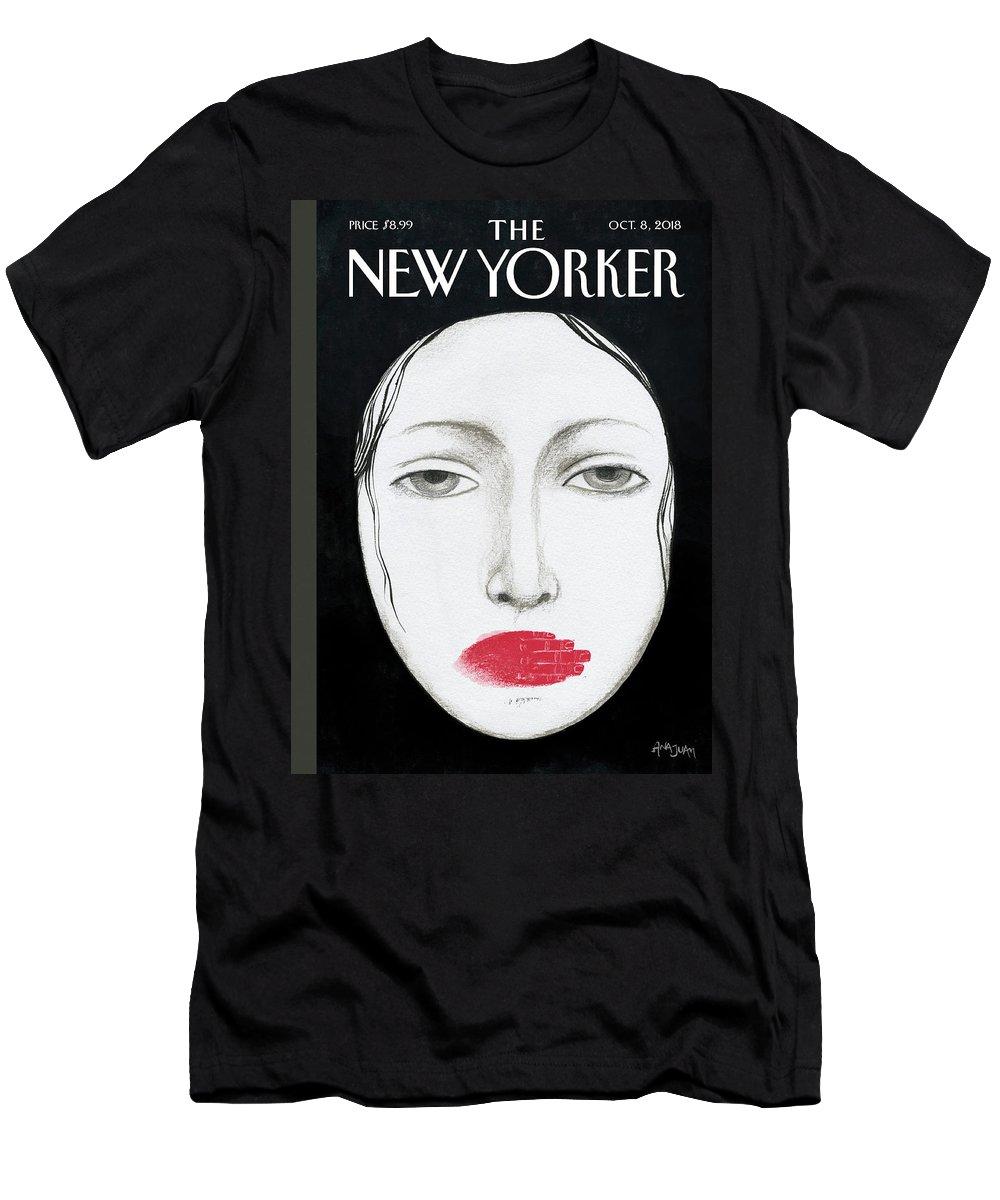 Unheard T-Shirt featuring the drawing Unheard by Ana Juan