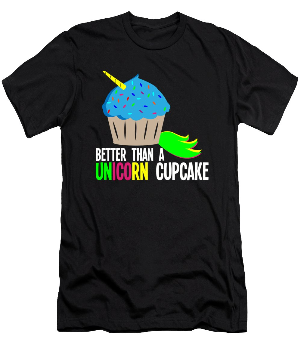 Big-foot Men's T-Shirt (Athletic Fit) featuring the digital art Unicupcake by Andrea Robertson
