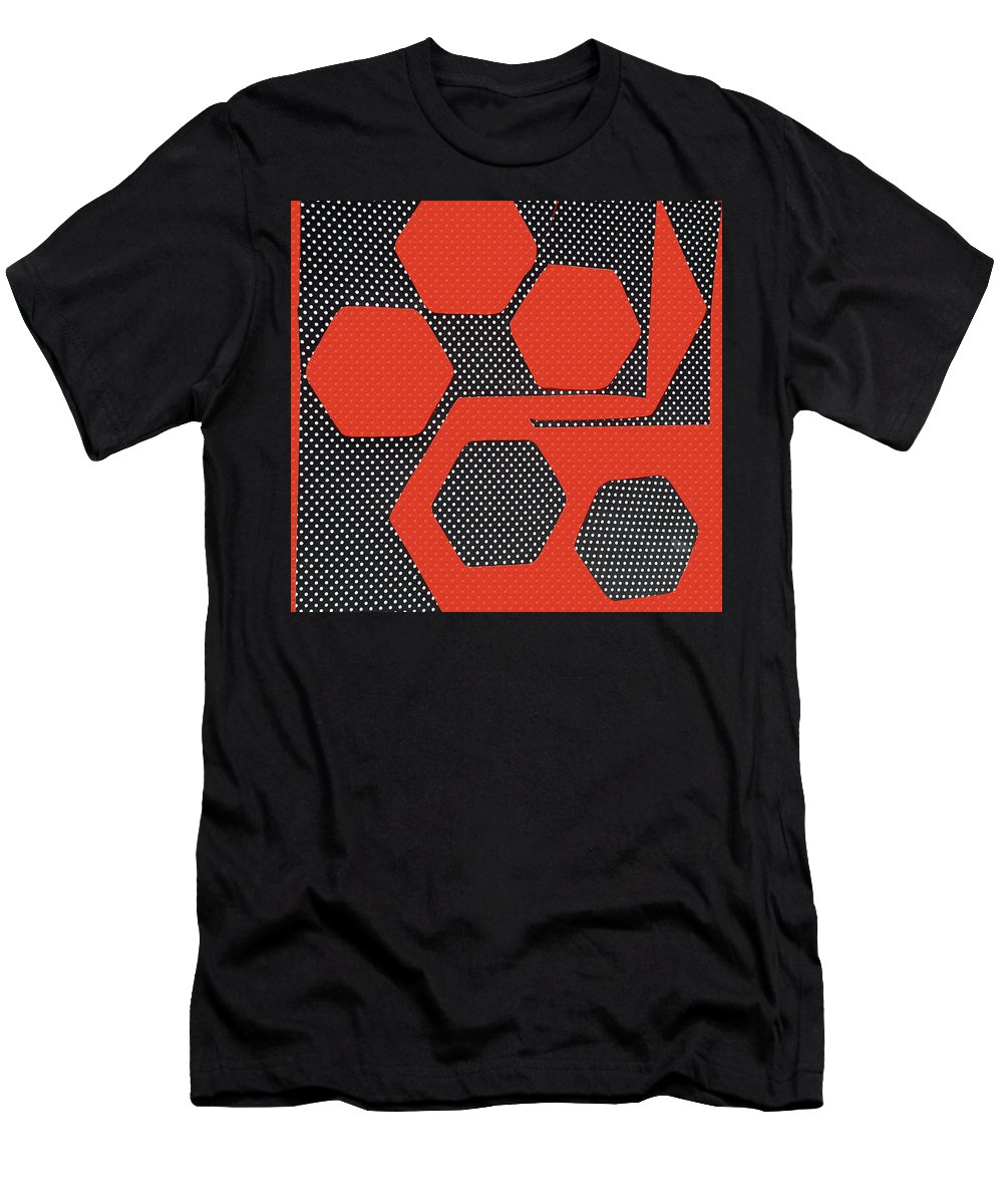 Abstract Men's T-Shirt (Athletic Fit) featuring the drawing Unknown by Erma L George