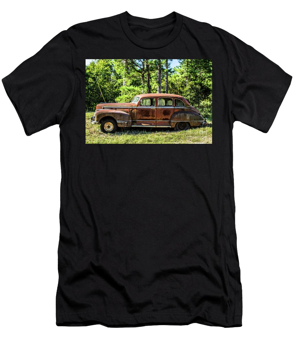Car Men's T-Shirt (Athletic Fit) featuring the photograph Vintage Old Hudson by Terri Morris