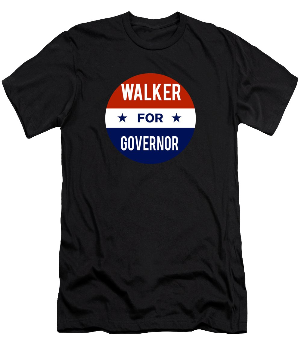 Election Men's T-Shirt (Athletic Fit) featuring the digital art Walker For Governor 2018 by Flippin Sweet Gear