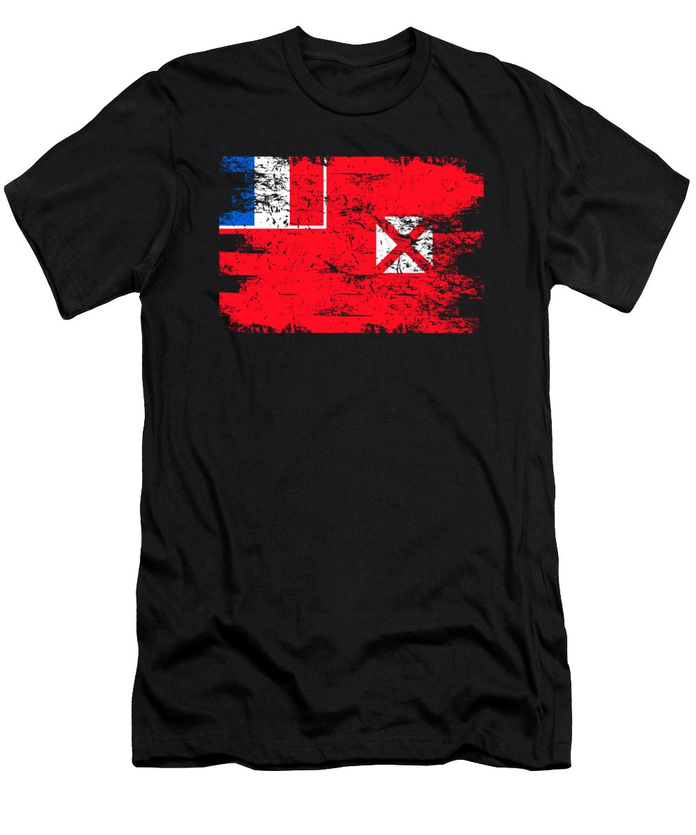 Patriotic Men's T-Shirt (Athletic Fit) featuring the digital art Wallis Futuna Shirt Gift Country Flag Patriotic Travel Oceania Light by J P