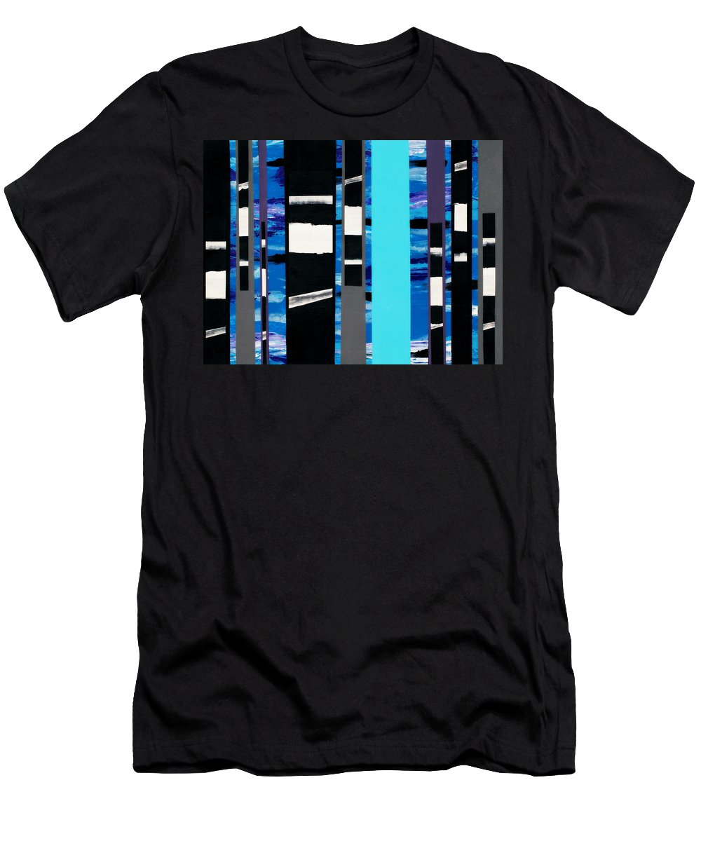 Darkness Men's T-Shirt (Athletic Fit) featuring the painting When The Darkness Follows by Rahdne Zola