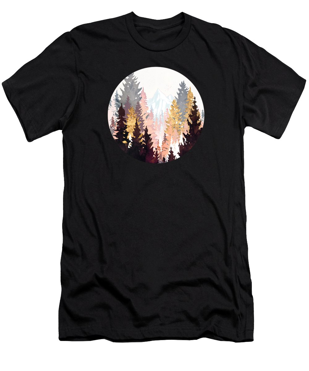 Forest T-Shirt featuring the digital art Wine Forest by Spacefrog Designs