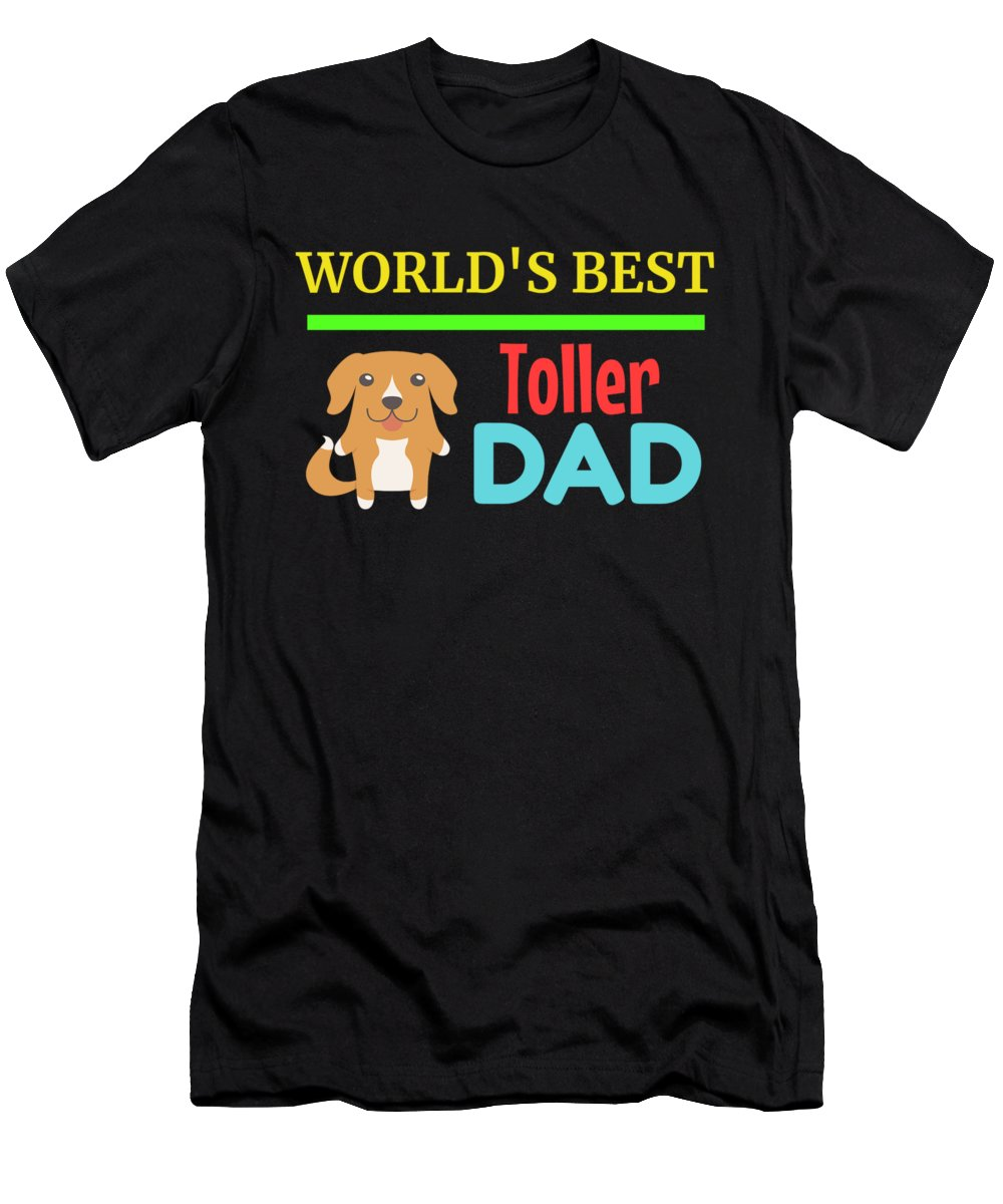 Cute-dog-dad Men's T-Shirt (Athletic Fit) featuring the digital art Worlds Best Toller Dad by DogBoo
