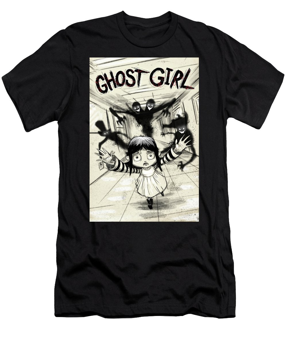 T-Shirt featuring the digital art Ghost Girl by District 97