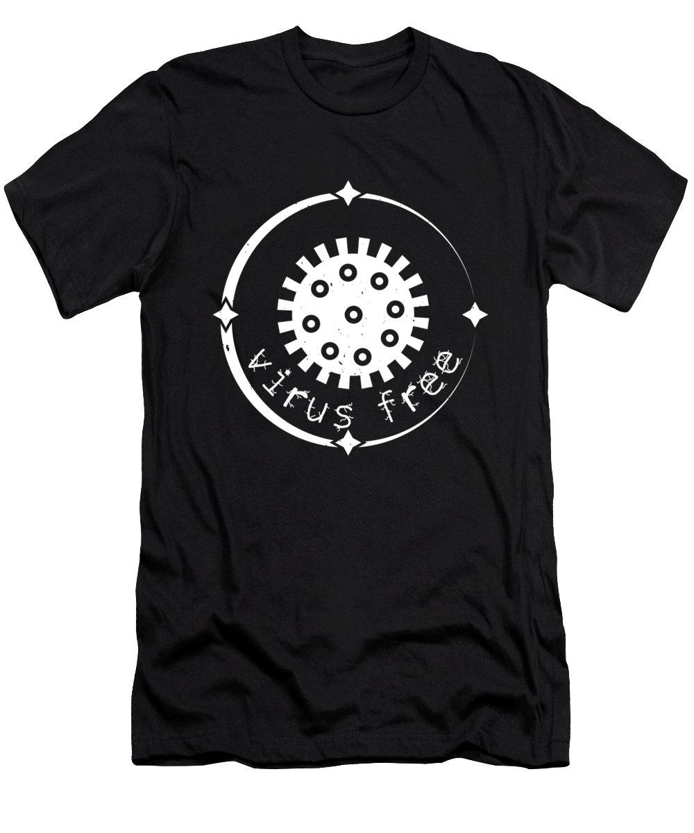 Sarcastic T-Shirt featuring the digital art Virus Free by Jacob Zelazny