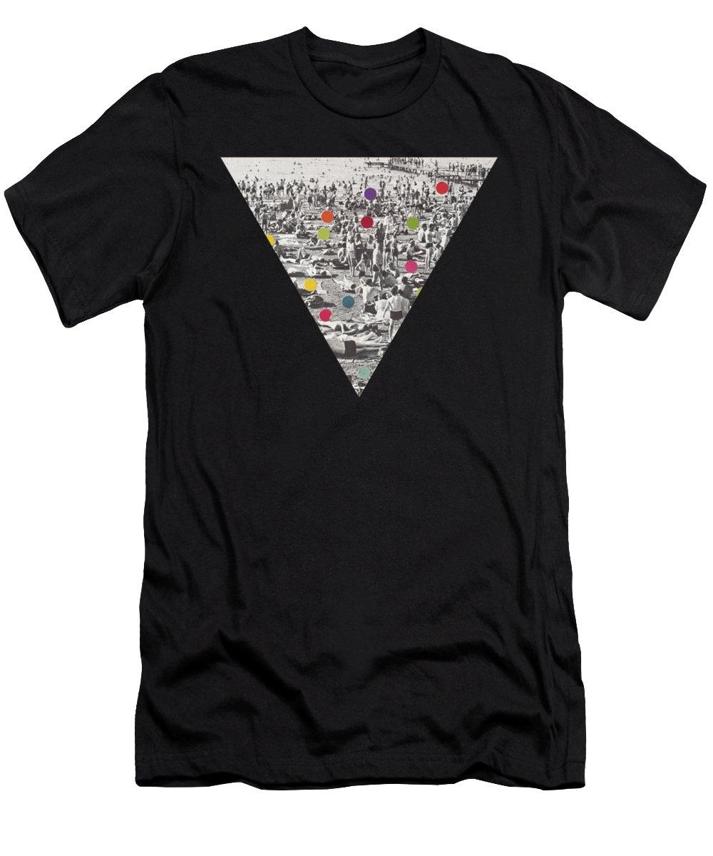 Beach T-Shirt featuring the mixed media A Good Spot by Cassia Beck