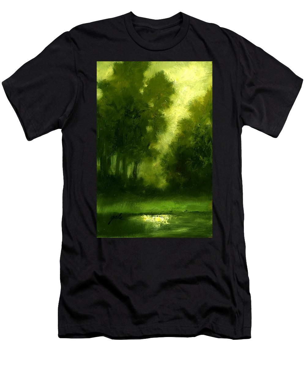 Miniature Oil Paintings T-Shirt featuring the painting A Hazy Day by Jim Gola