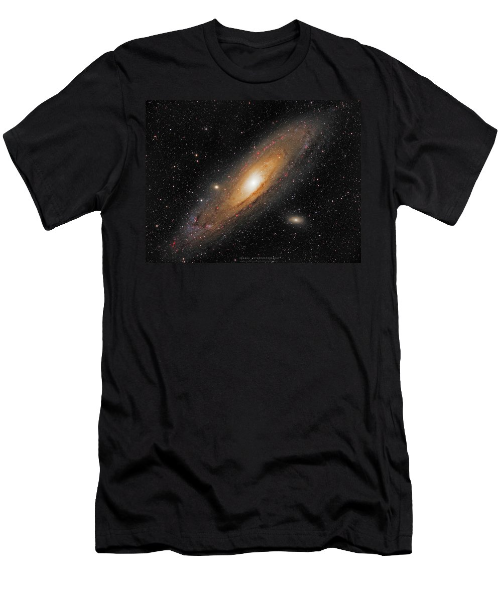 Andromeda Galaxy T-Shirt featuring the photograph Andromeda Galaxy by Prabhu Astrophotography