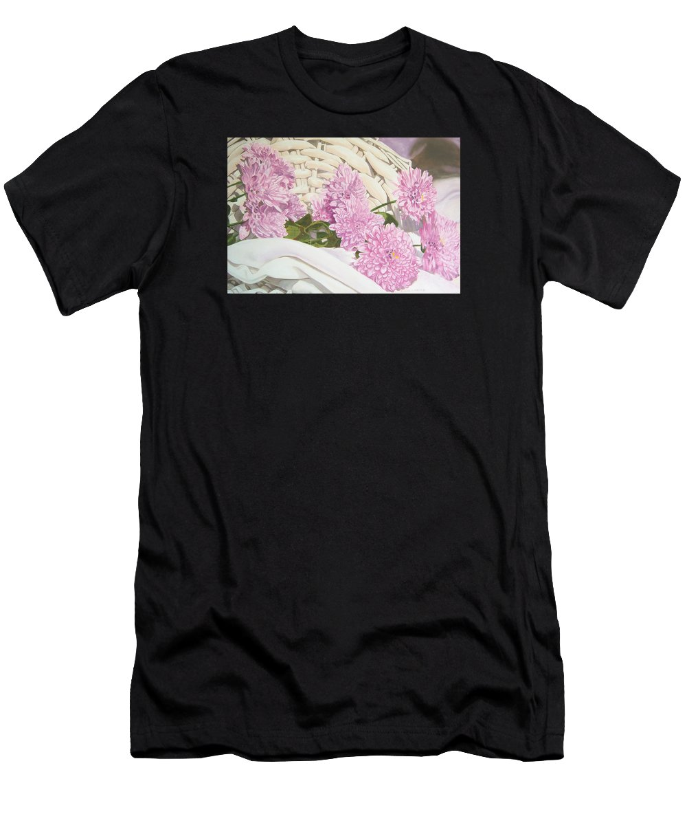 Fine Art Print T-Shirt featuring the painting Floral Art Print For Sale Still Life Oil Painting by Diane Jorstad