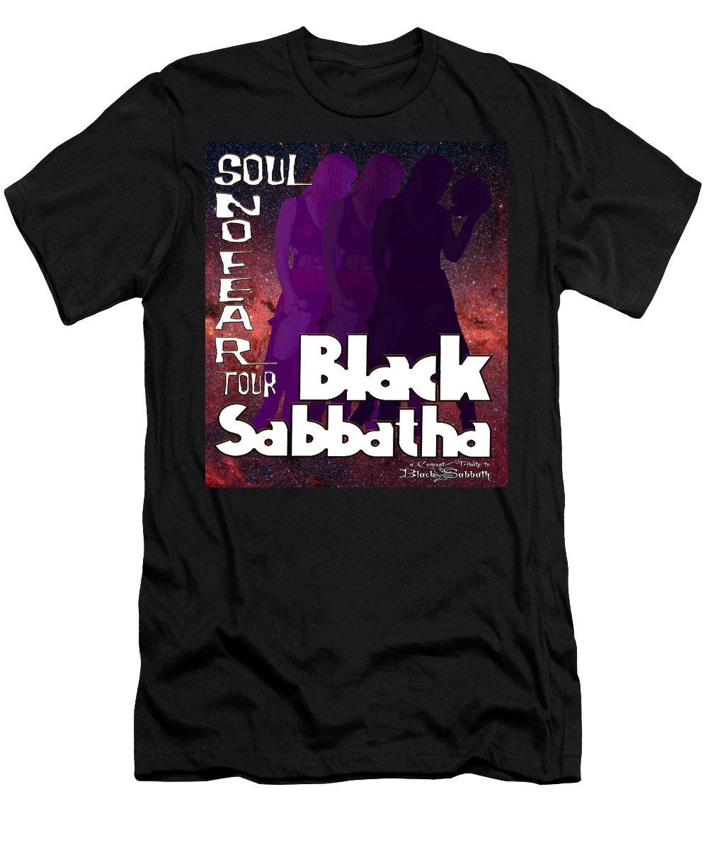 Black Sabbatha T-Shirt featuring the digital art Black Sabbatha concept/tribute to Black Sabbath by Jim Manzo