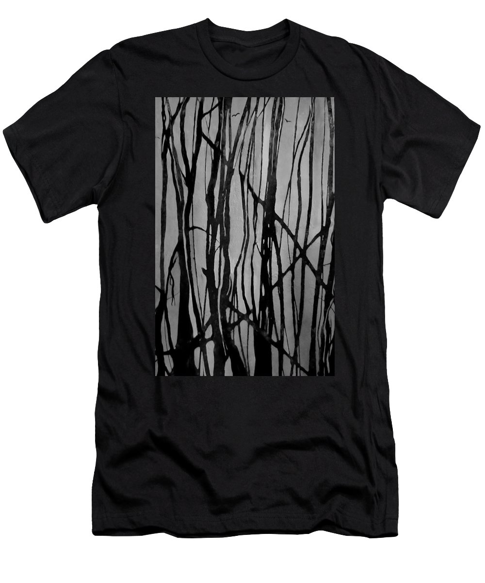 Forest T-Shirt featuring the painting Bare by Valerie Josi