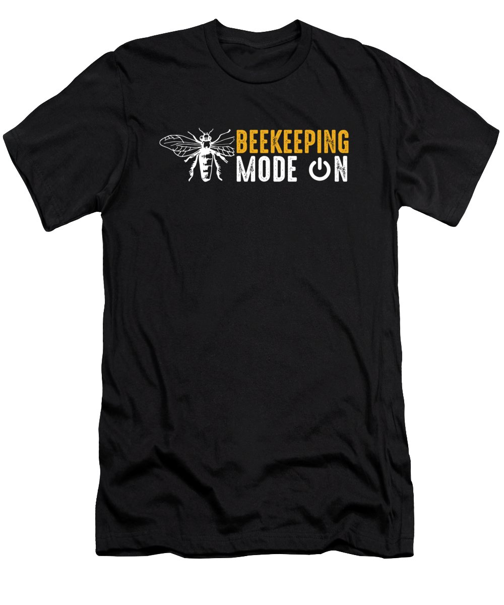 Bee Keeping T-Shirt featuring the digital art Beehive Bee Keepers Beekeeper Honeycomb Honey Beekeeping Mode On Gift by Thomas Larch
