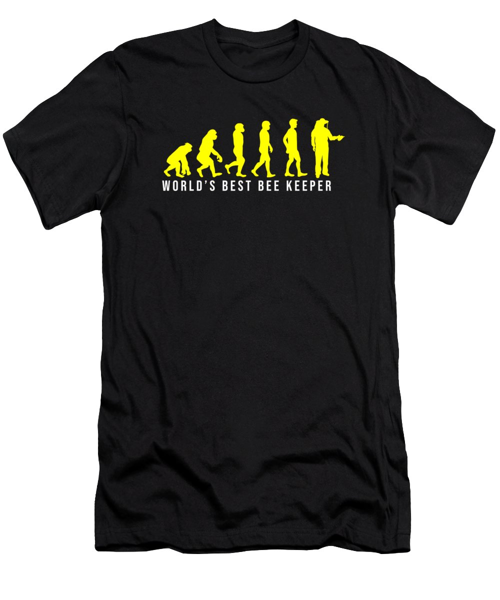 Bee Keeping T-Shirt featuring the digital art Beehive Bee Keepers Beekeeper Honeycomb Honey Worlds Best Beekeeping Gift by Thomas Larch