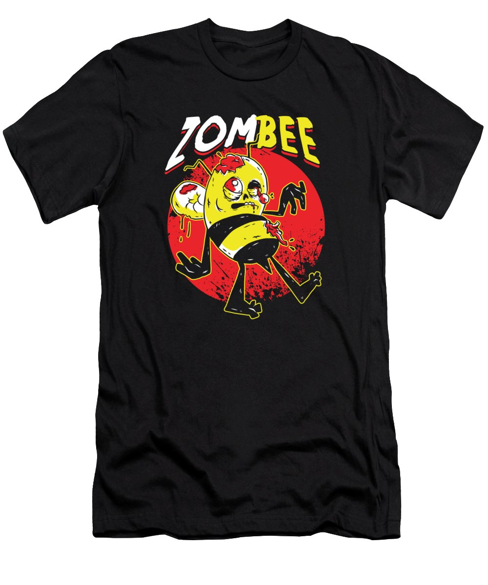 Bee Strong T-Shirt featuring the digital art Bees Beehive Beekeeper Halloween Honeybee Gift Funny ZomBee by Thomas Larch