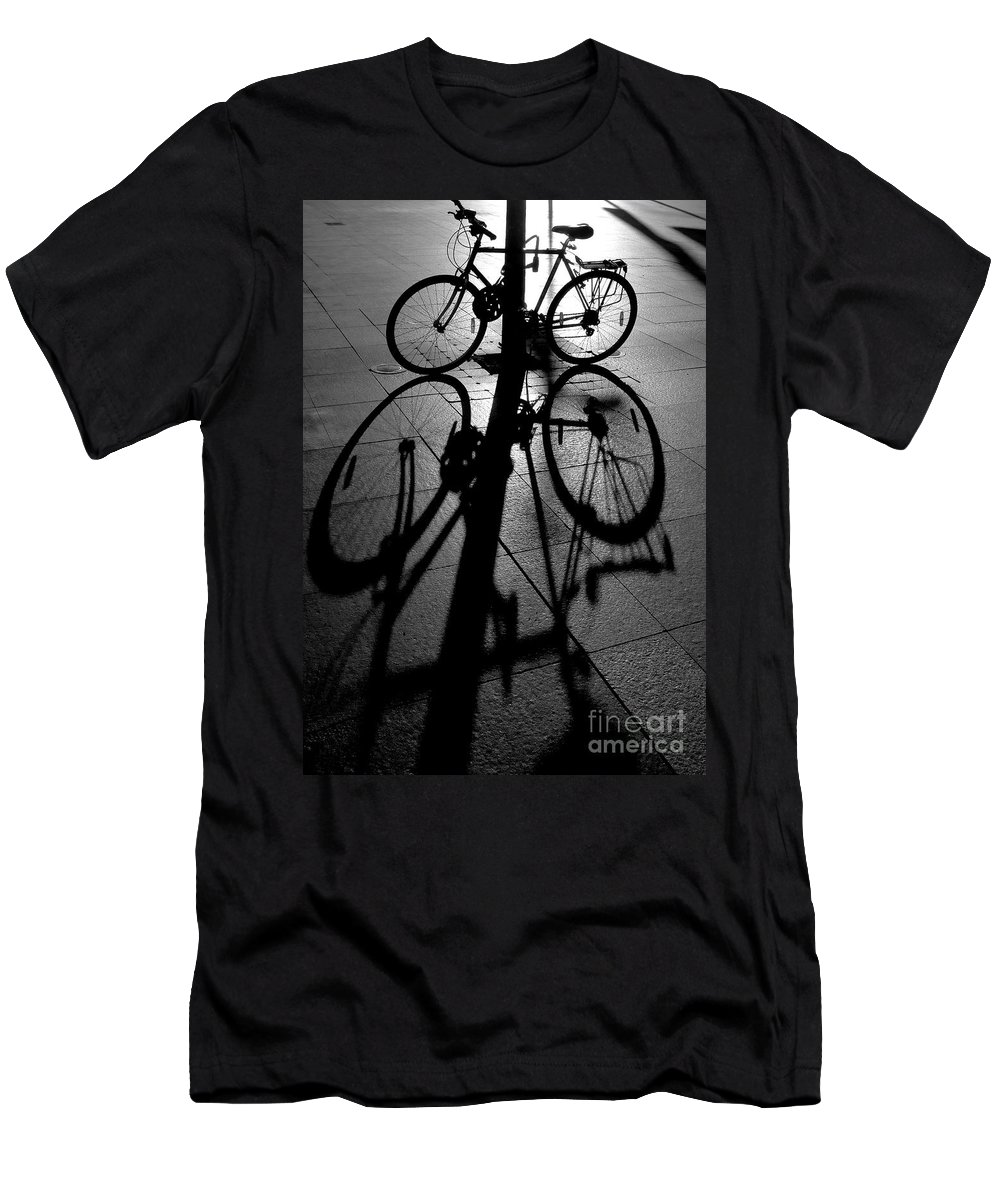 Bicycle T-Shirt featuring the photograph Bicycle shadow by Sheila Smart Fine Art Photography
