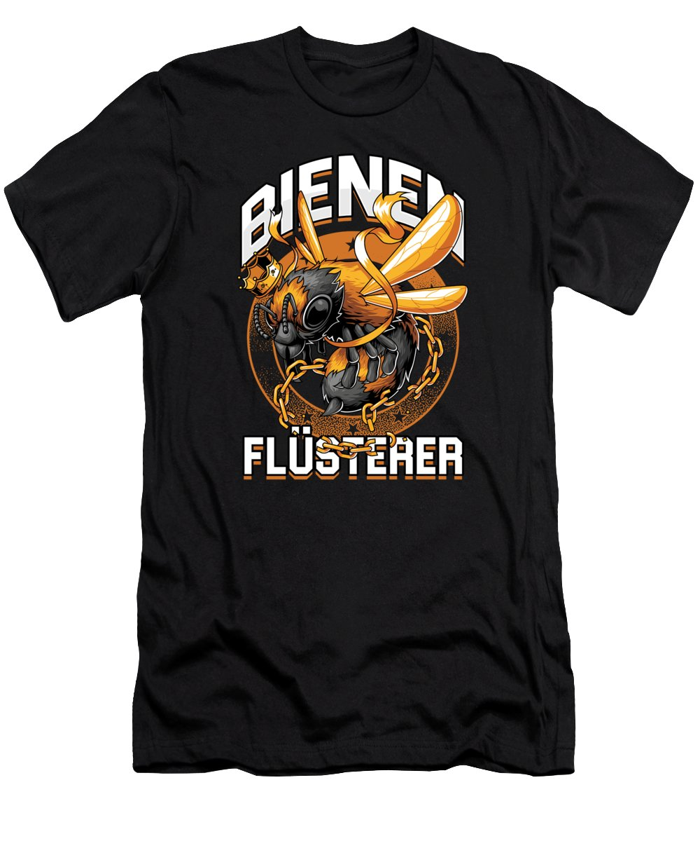 Bee T-Shirt featuring the digital art Bienen Flsterer Bee Beekeeper Honeycomb Gift by Thomas Larch