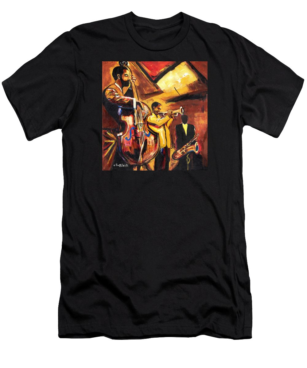 Everett Spruill T-Shirt featuring the painting Birth Of Cool by Everett Spruill