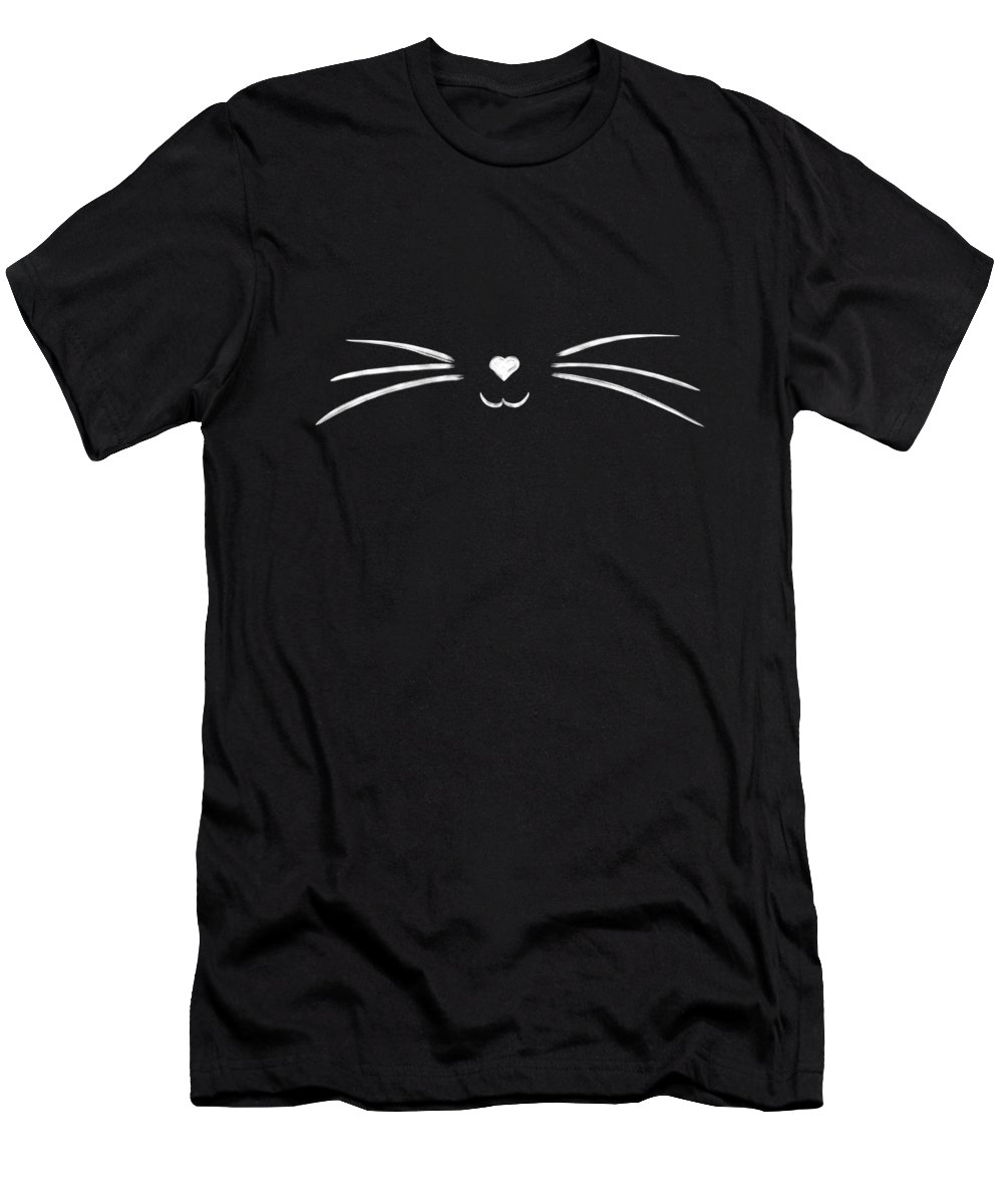 Cat T-Shirt featuring the drawing Cat whiskers by Delphimages Photo Creations