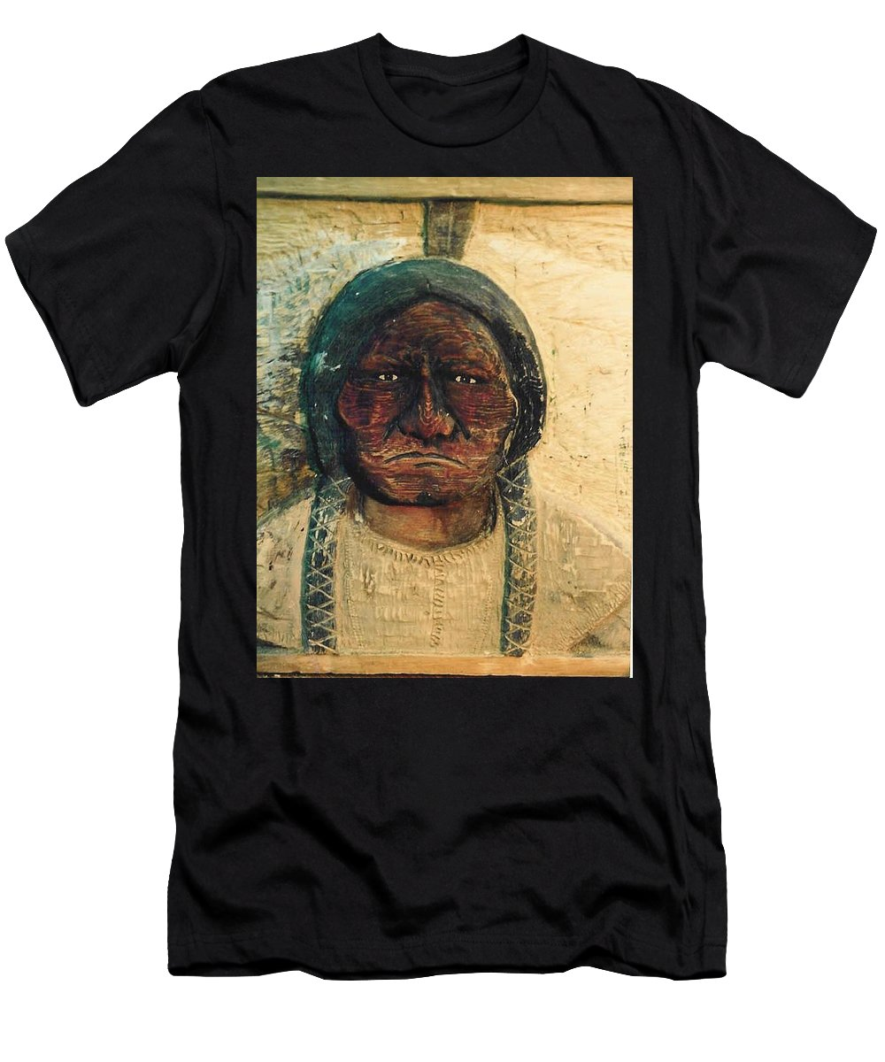 Indian T-Shirt featuring the sculpture Chief Sitting Bull by Michael Pasko