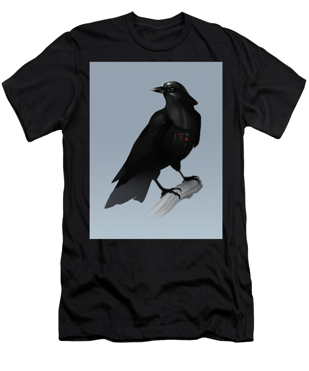 Birds T-Shirt featuring the digital art Crow Vader by Michael Myers