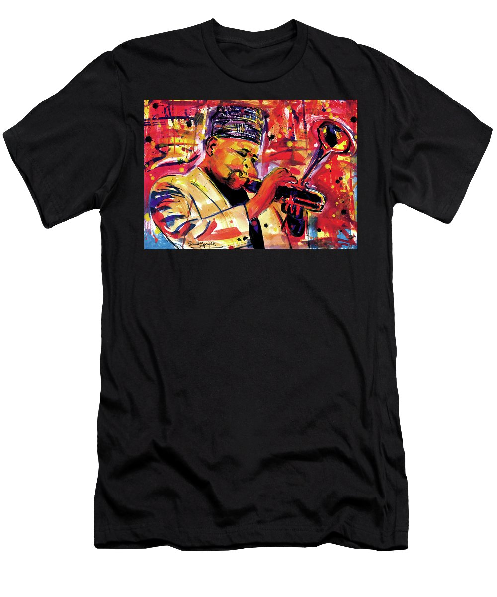 African Mask T-Shirt featuring the painting Dizzy Gillespie by Everett Spruill