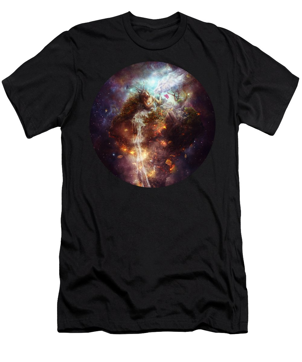 Surreal T-Shirt featuring the digital art Empathy by Mario Sanchez Nevado