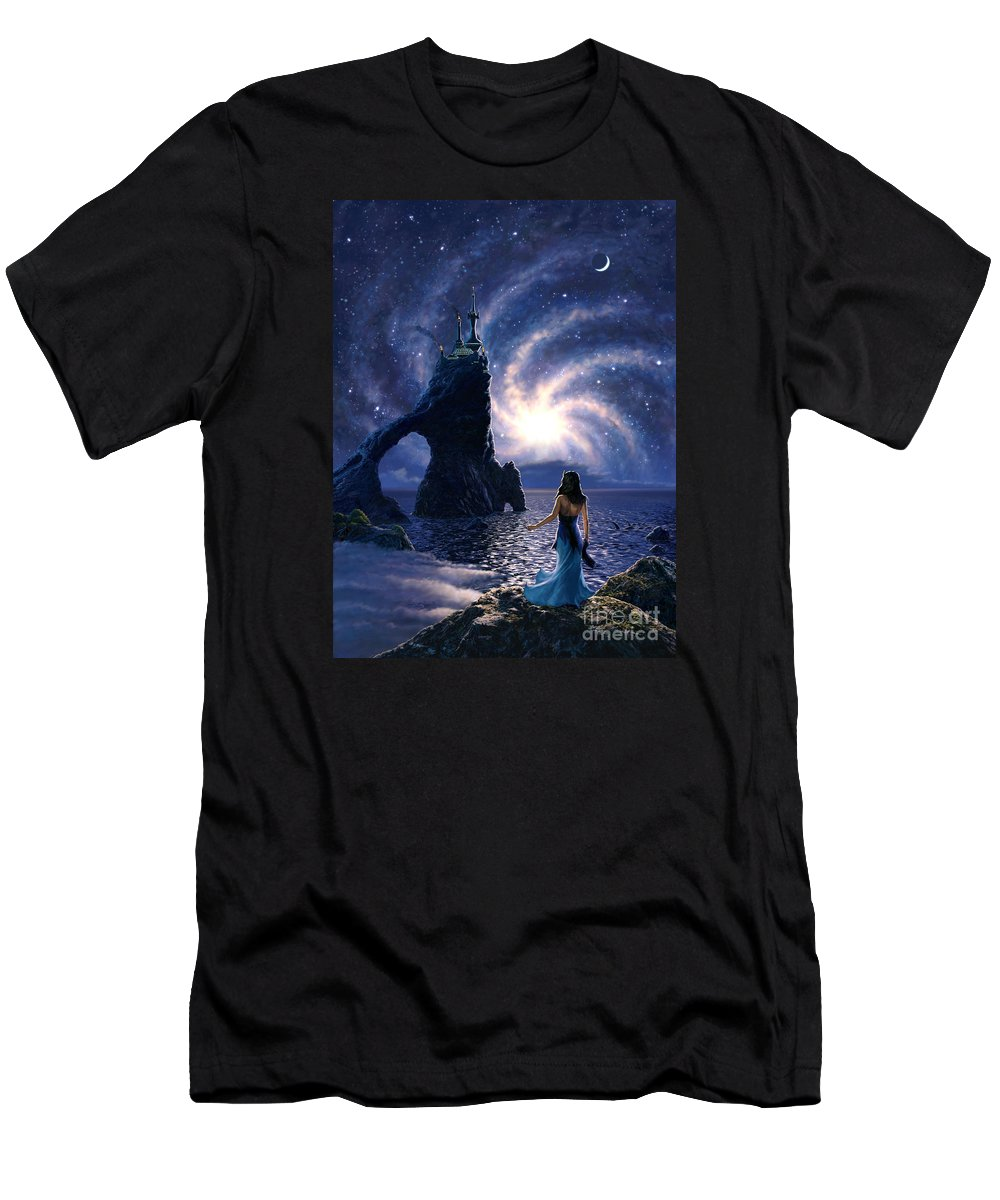 Space T-Shirt featuring the painting Far Synura by Stu Shepherd