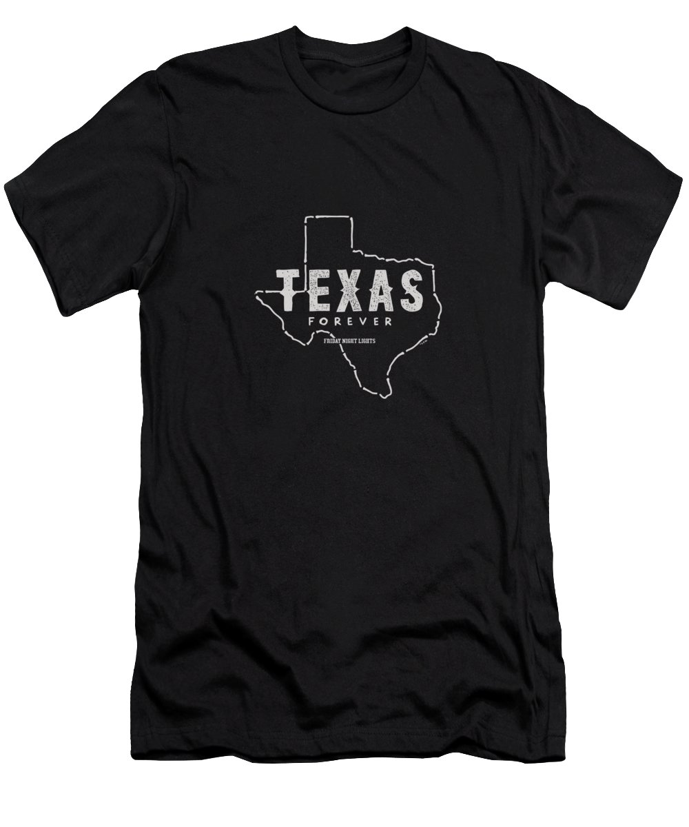 Friday T-Shirt featuring the digital art Friday Night Lights Texas Forever by Sue Mei Koh