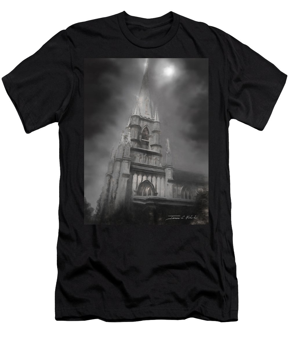 Castle T-Shirt featuring the photograph Grace Episcopal Church by James Christopher Hill