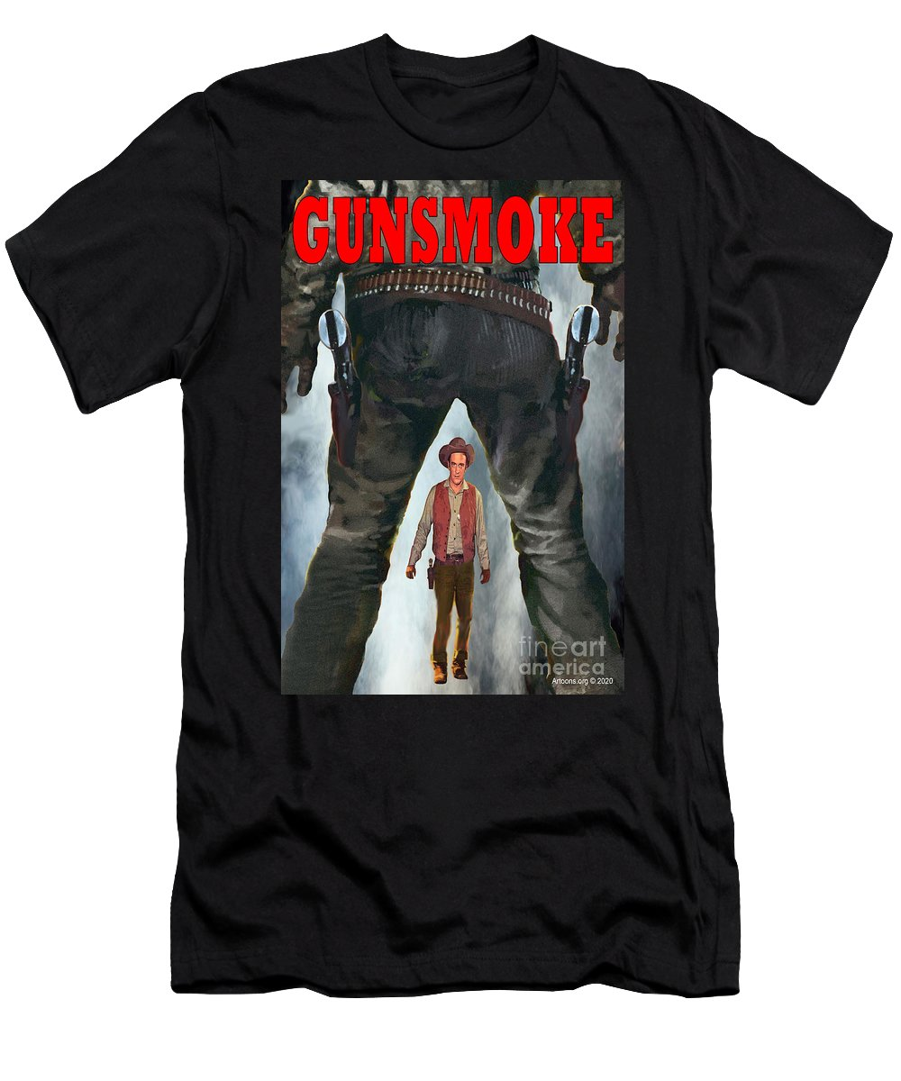 Gunsmoke T-Shirt featuring the digital art Gunsmoke by Ignatius Graffeo