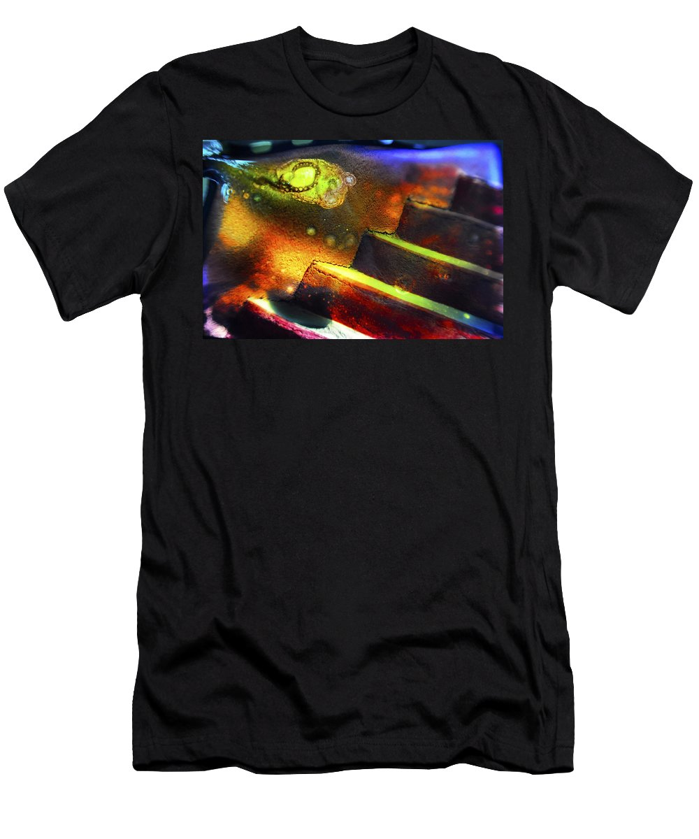 Abstract T-Shirt featuring the photograph Heart of Glass by Skip Hunt