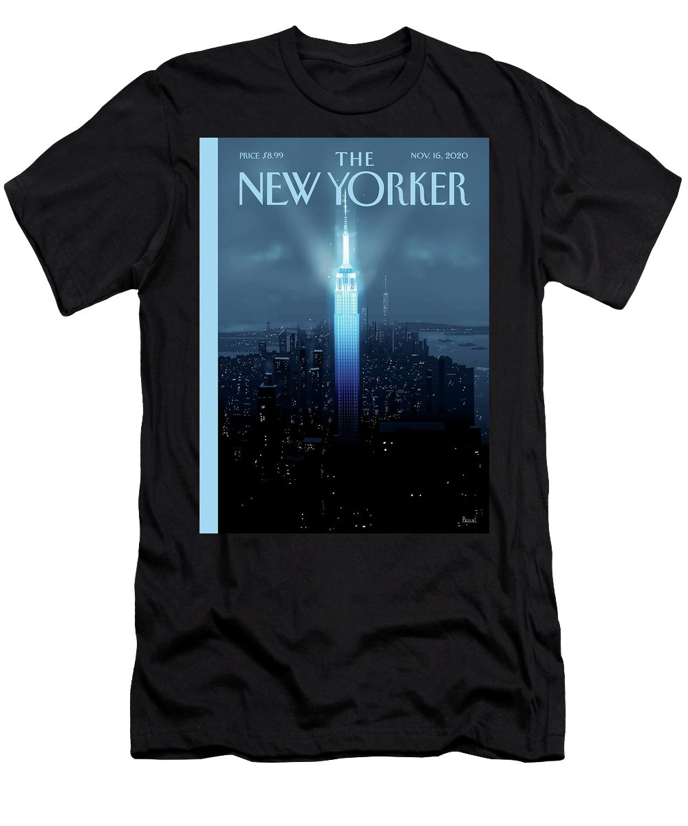 New York T-Shirt featuring the painting Hope Again by Pascal Campion