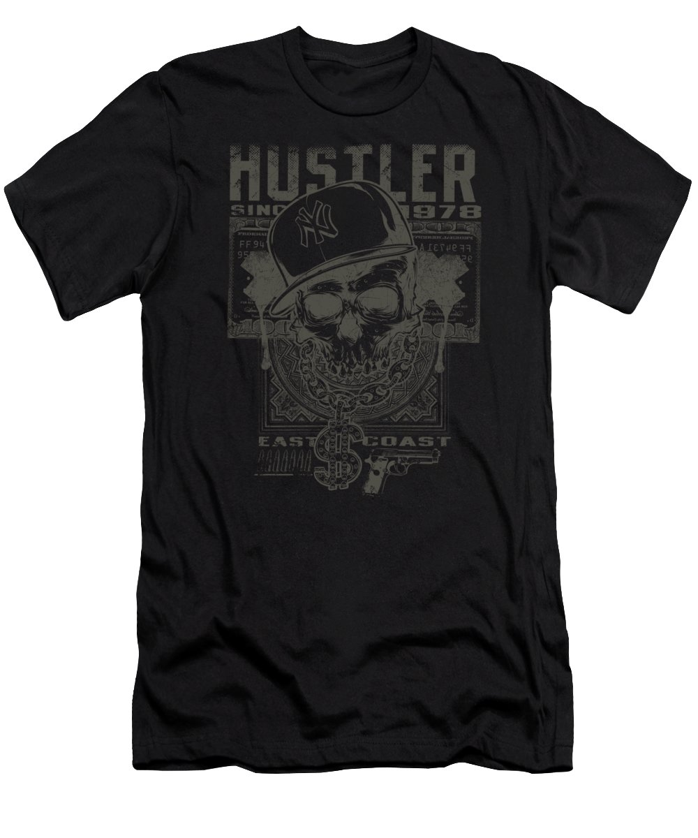 Skull T-Shirt featuring the digital art Hustler Skull by Passion Loft