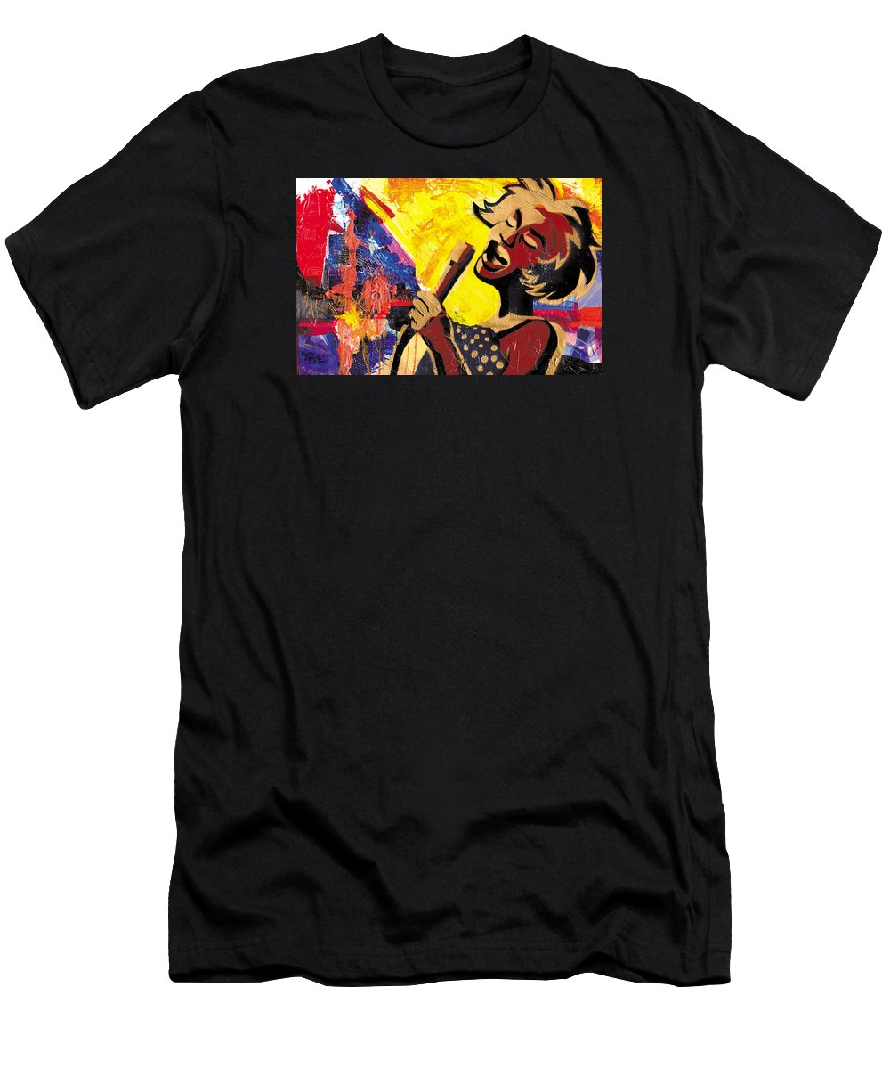 Everett Spruill T-Shirt featuring the painting I Sings Da Blues by Everett Spruill