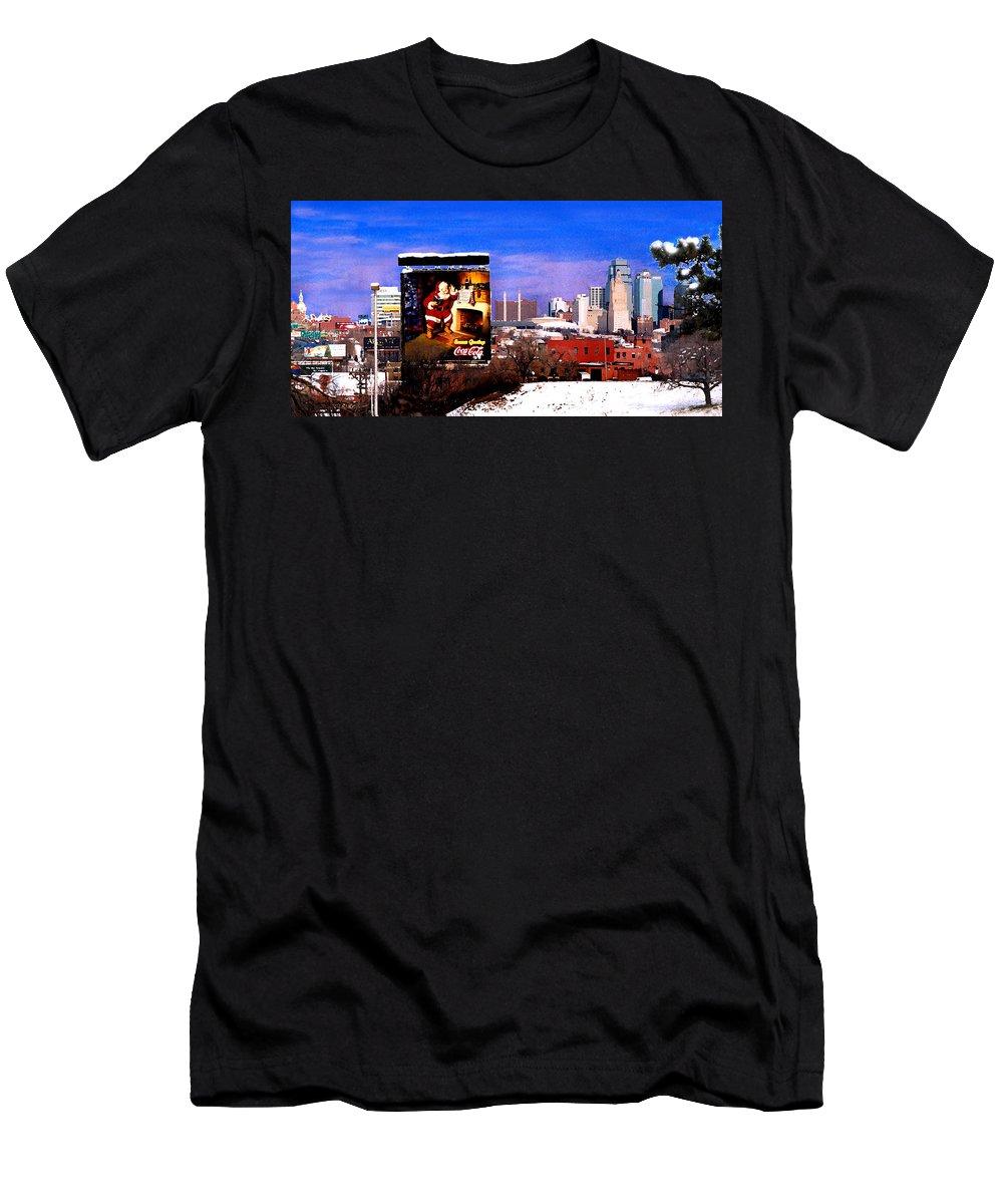 City T-Shirt featuring the photograph Kansas City Skyline at Christmas by Steve Karol