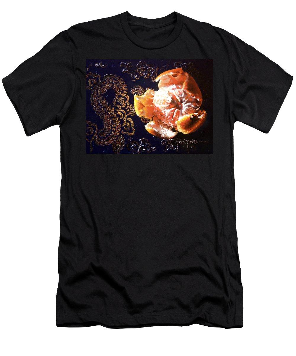 Mandarin T-Shirt featuring the painting Mandarin by Dianna Ponting