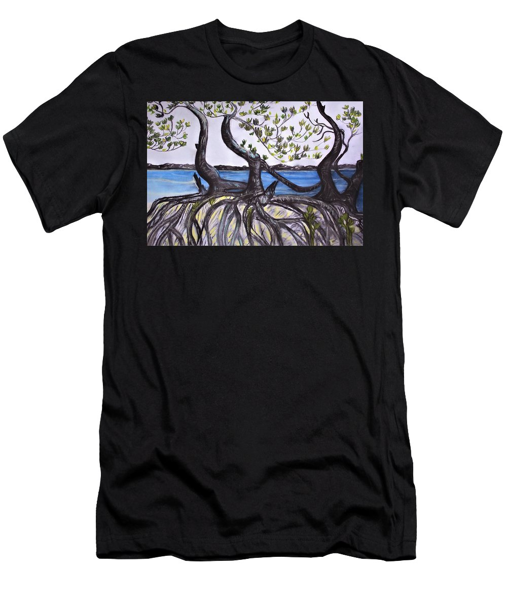Weipa T-Shirt featuring the painting Mangroves by Joan Stratton