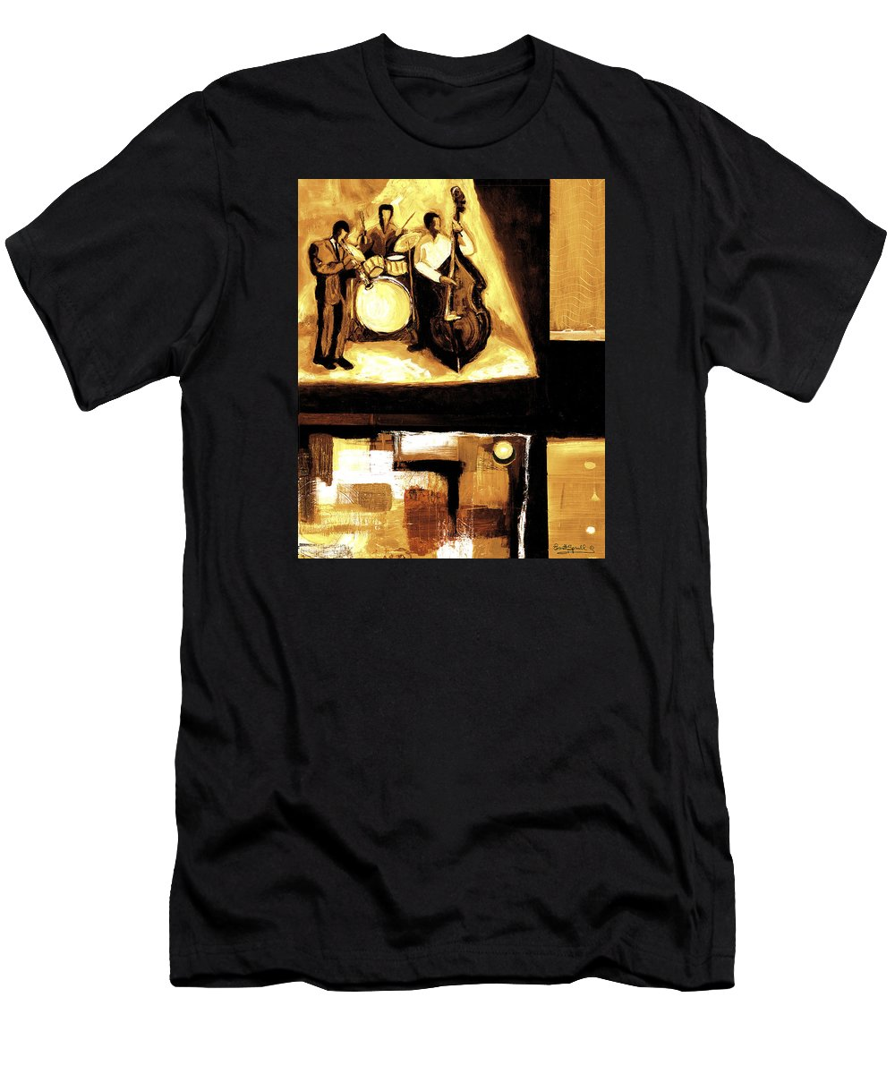 Everett Spruill T-Shirt featuring the painting Modern Jazz Number Two by Everett Spruill
