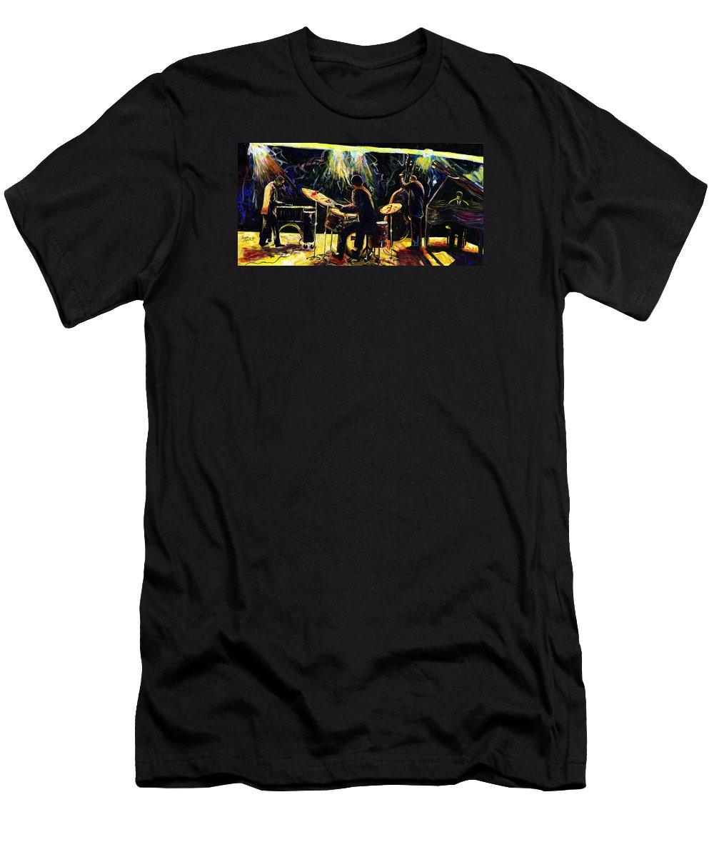 Everett Spruill T-Shirt featuring the painting Modern Jazz Quartet take2 by Everett Spruill
