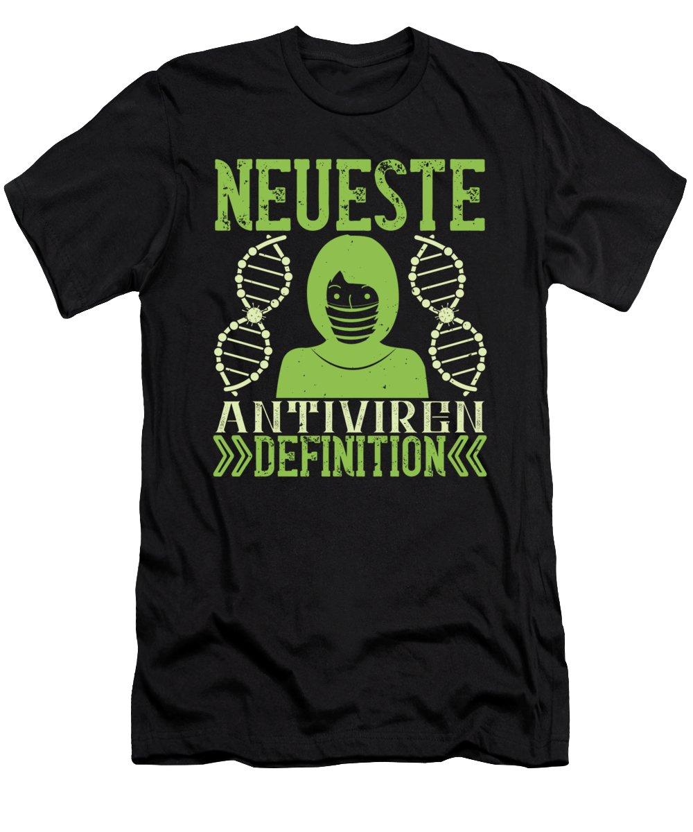 Sarcastic T-Shirt featuring the digital art Neueste Antiviren Definition by Jacob Zelazny