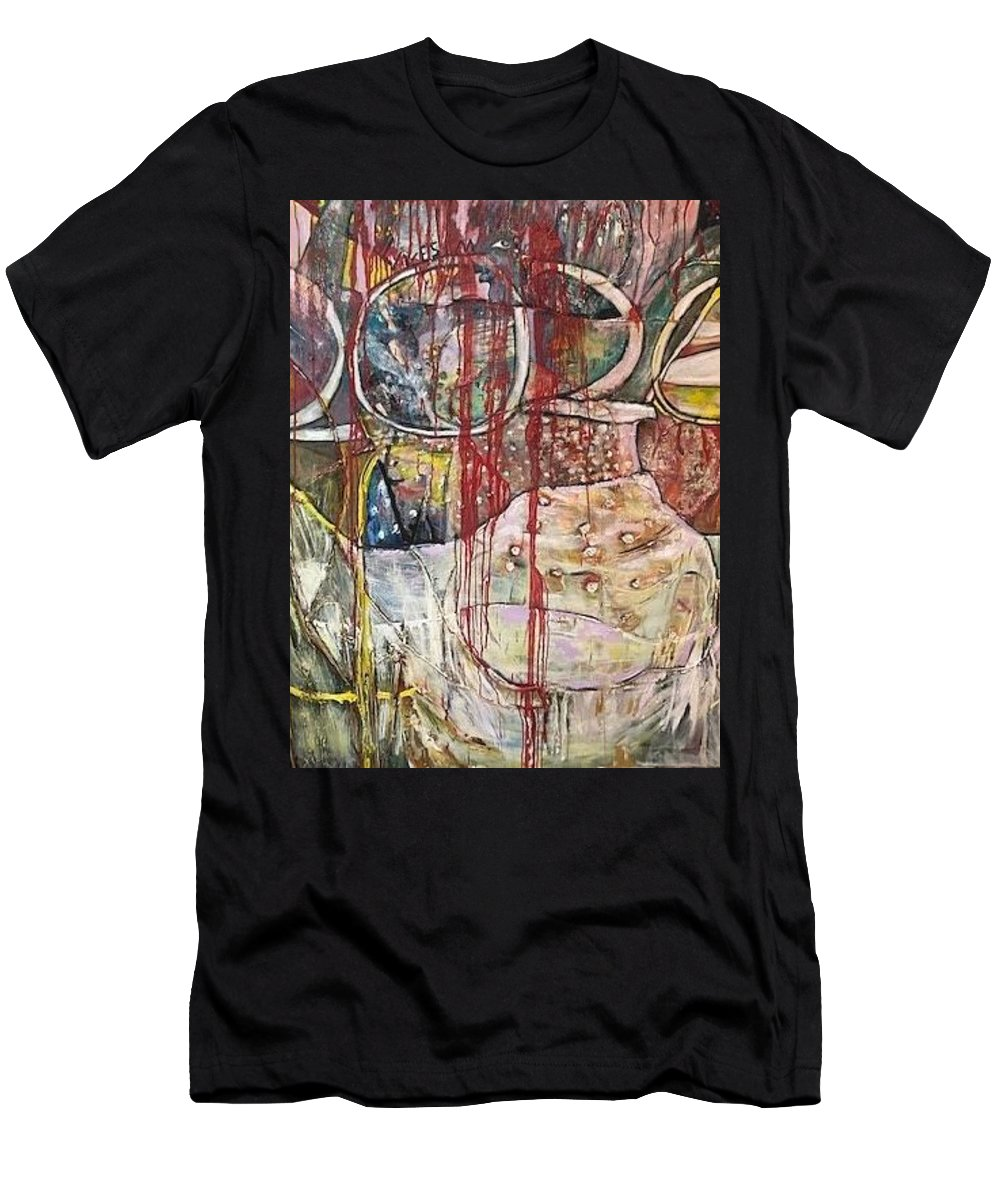 Virus T-Shirt featuring the painting No Peace by Peggy Blood