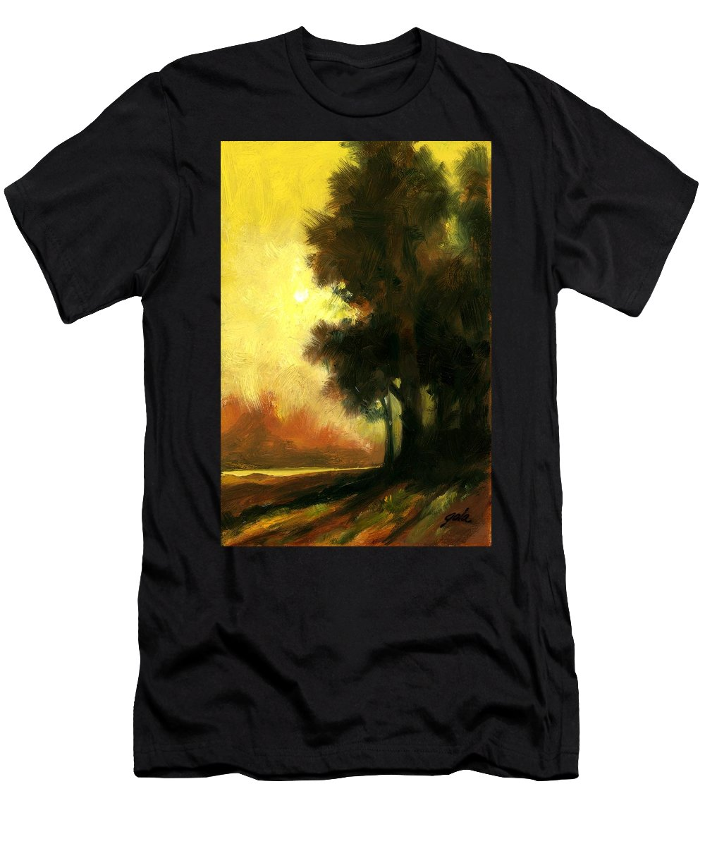 Landscape T-Shirt featuring the painting Sailors Delight by Jim Gola