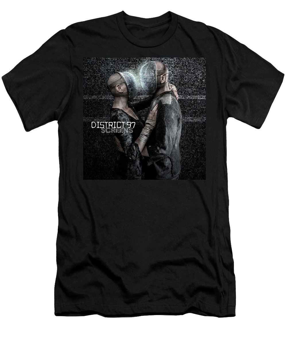 T-Shirt featuring the digital art Screens by District 97