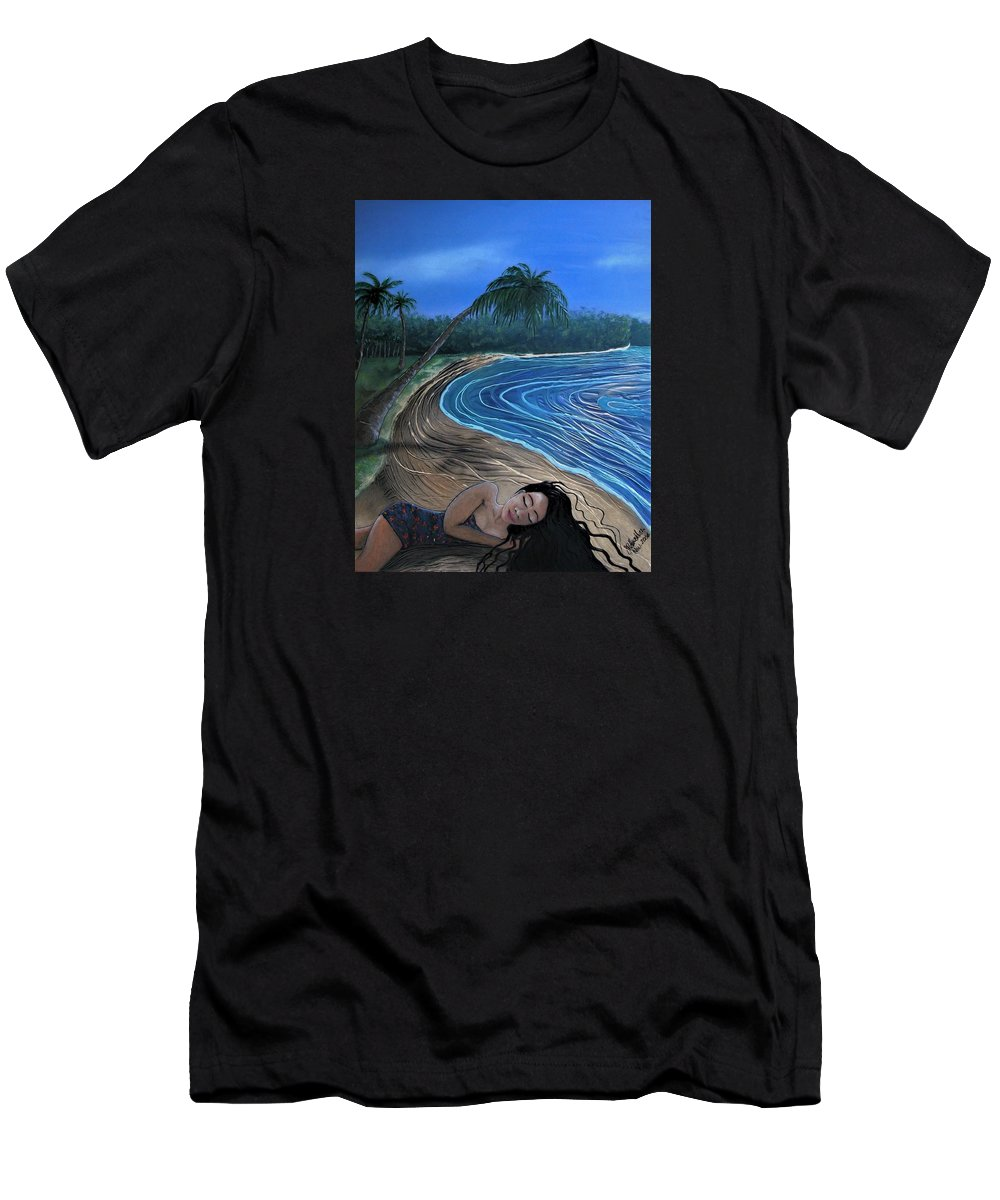 Sleeping Beauty T-Shirt featuring the painting Sleeping Beauty by Joan Stratton